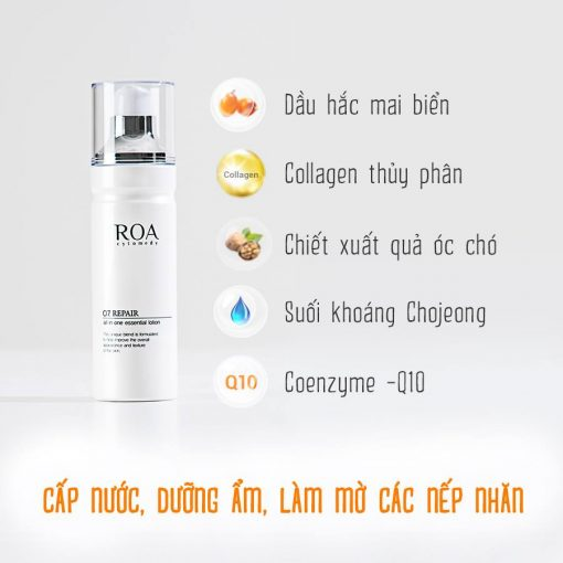 Sữa dưỡng da ROA O7 Repair All In One Essential Lotion 130ml